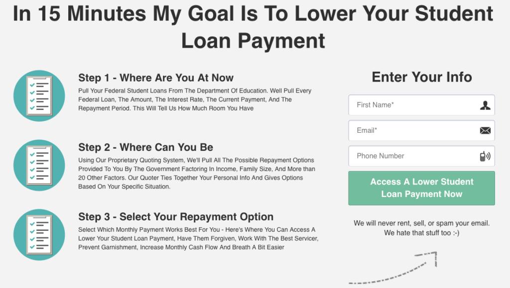 lower student loan debt
