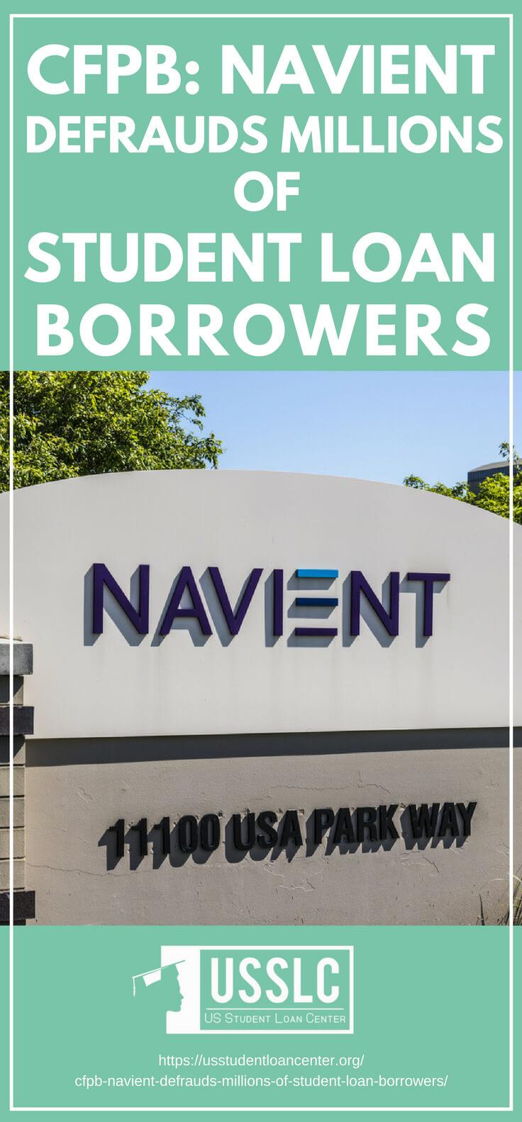 PLACARD | CFPB: Navient Defrauds Millions of Student Loan Borrowers