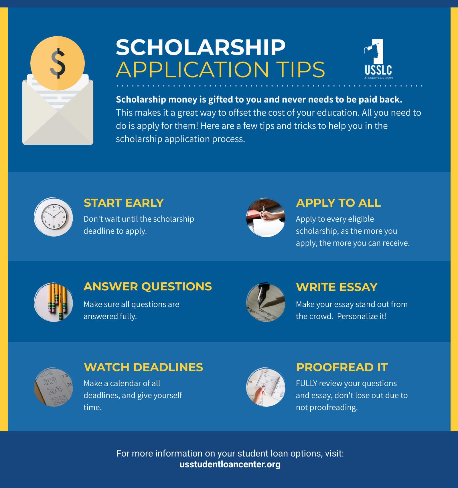 scholarships for moms application tips - 1